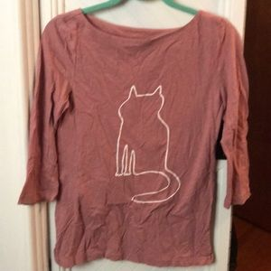 Loft outlet cat shirt xs